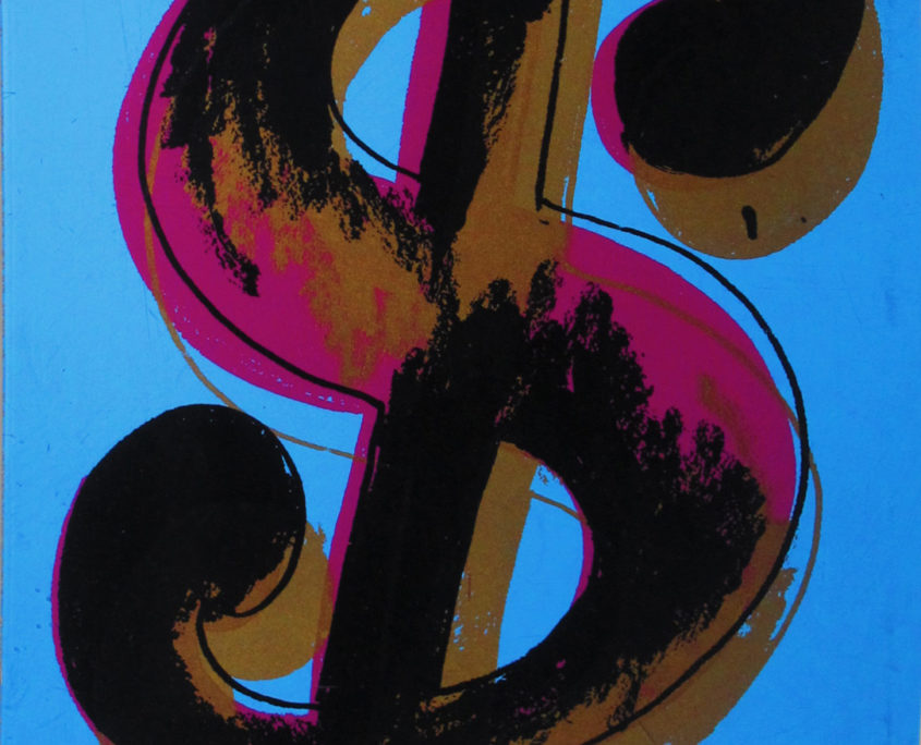 Andy Warhol | 1 piece dollar sign | 1982 | Image of Artists' work.