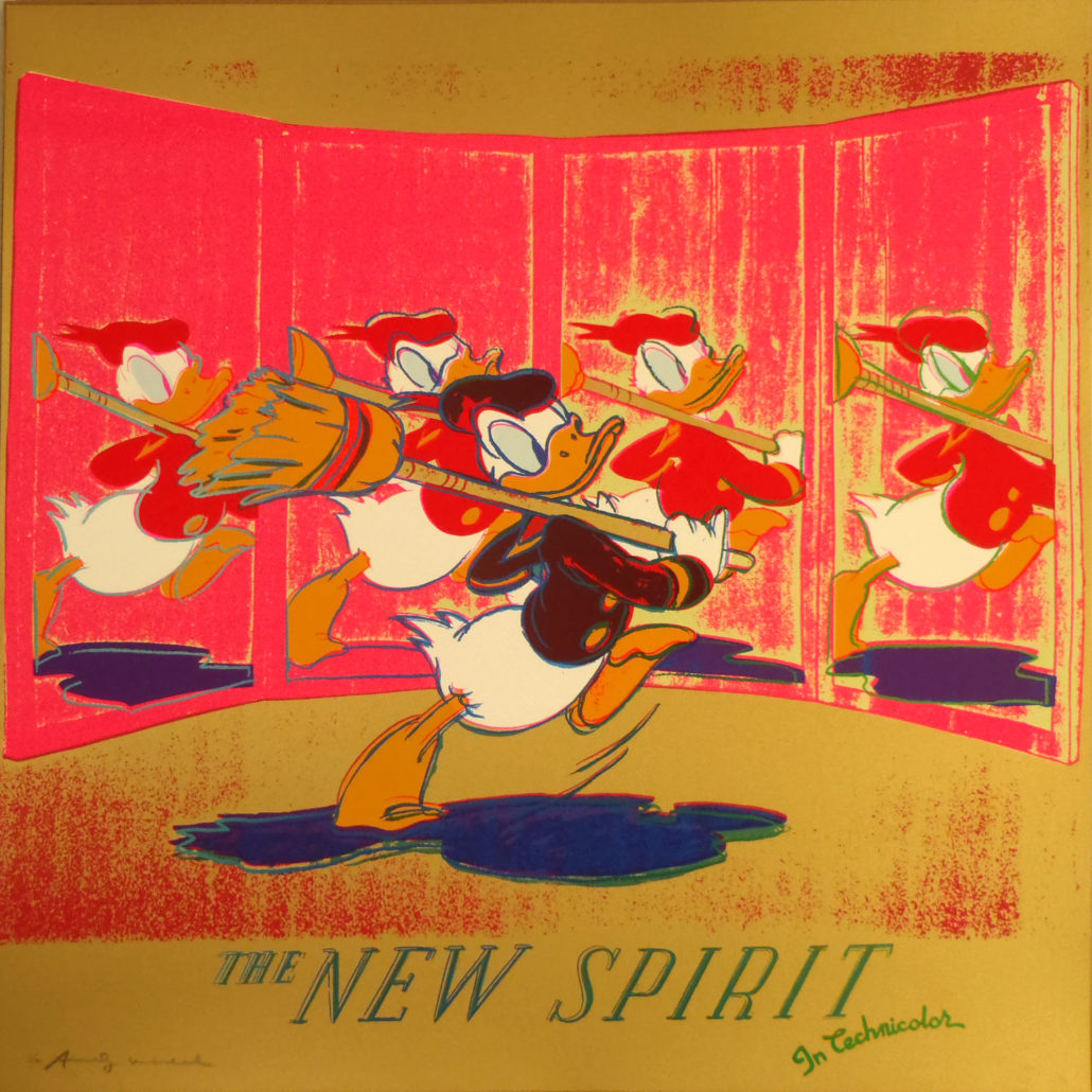 Andy Warhol | Ads | The New Spirit | Donald Duck | 357 | 1985 | Image of Artists' work.