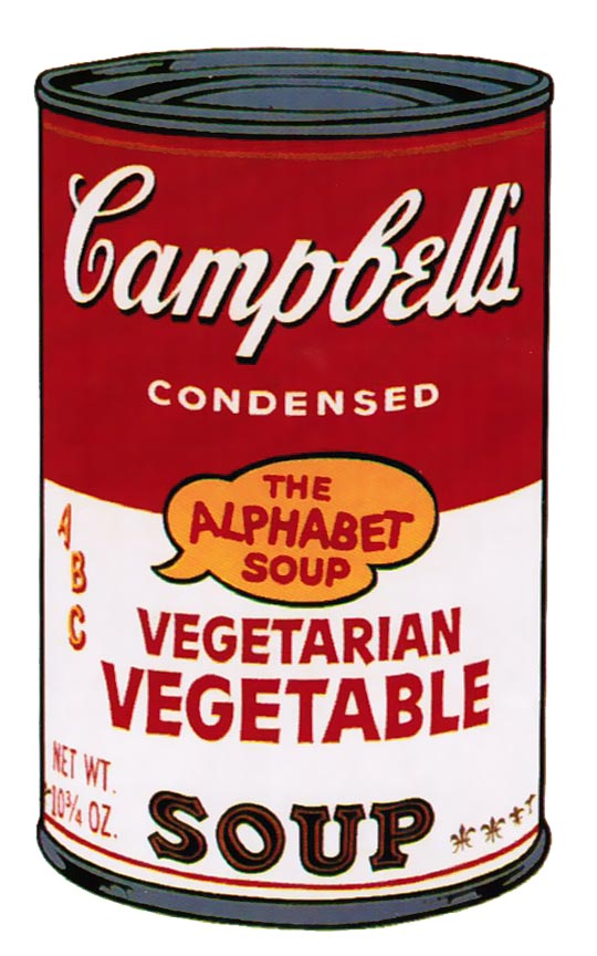 Andy Warhol | Campbell's Soup II Vegetarian Vegetable 56 | 1969 | Image of Artists' work.