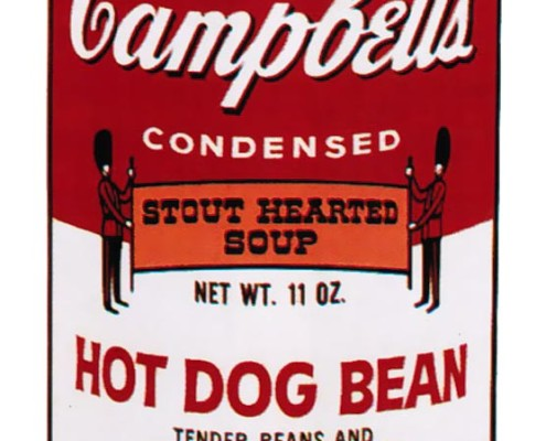 Andy Warhol | Campbell's Soup II Hot Dog Bean 59 | 1969 | Image of Artists' work.