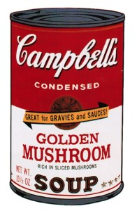 Andy Warhol | Campbell's Soup II Golden Mushroom 62 | 1969 | Image of Artists' work.