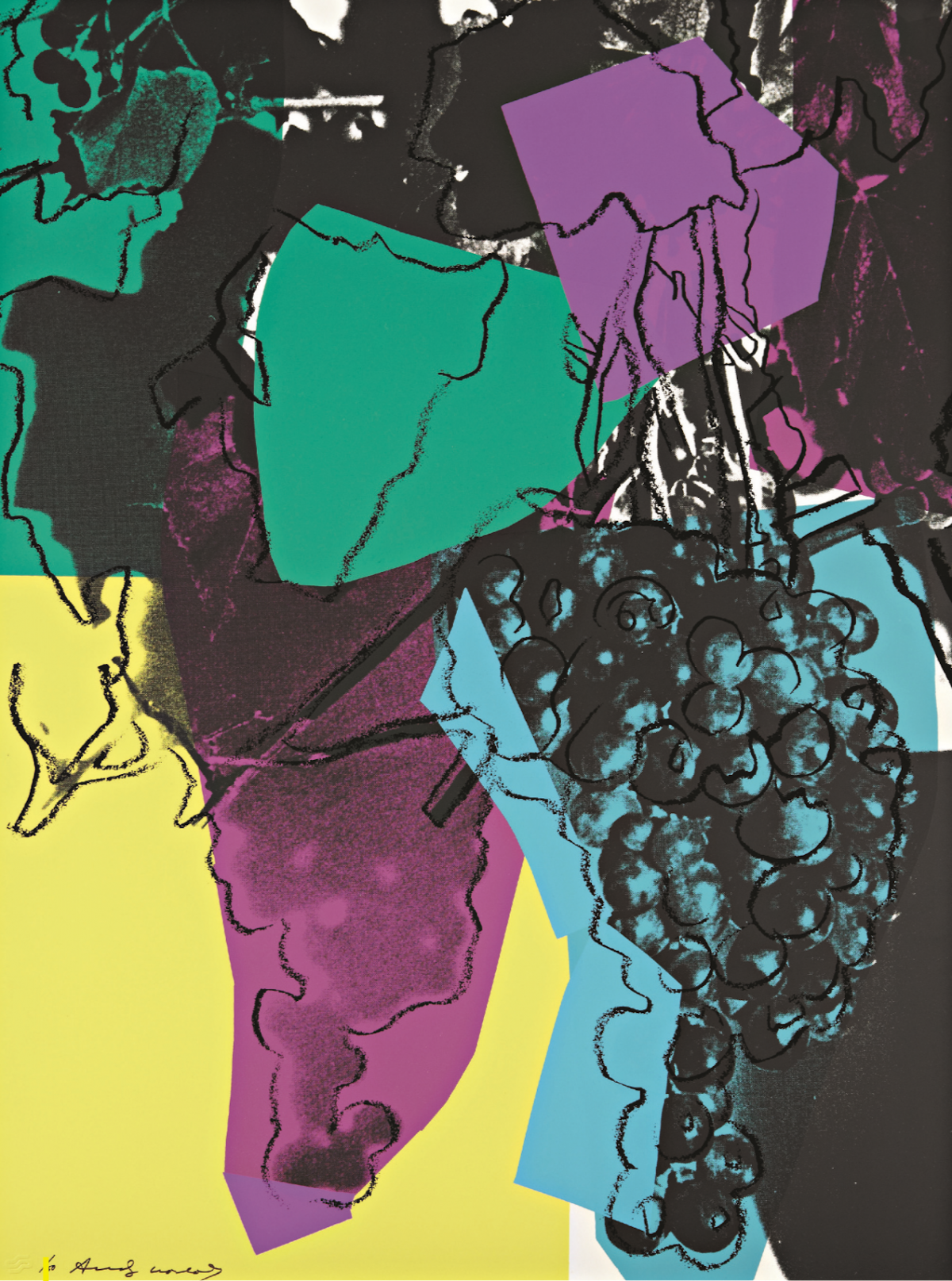 Andy Warhol | Grapes 195 | 1979 | Image of Artists' work.