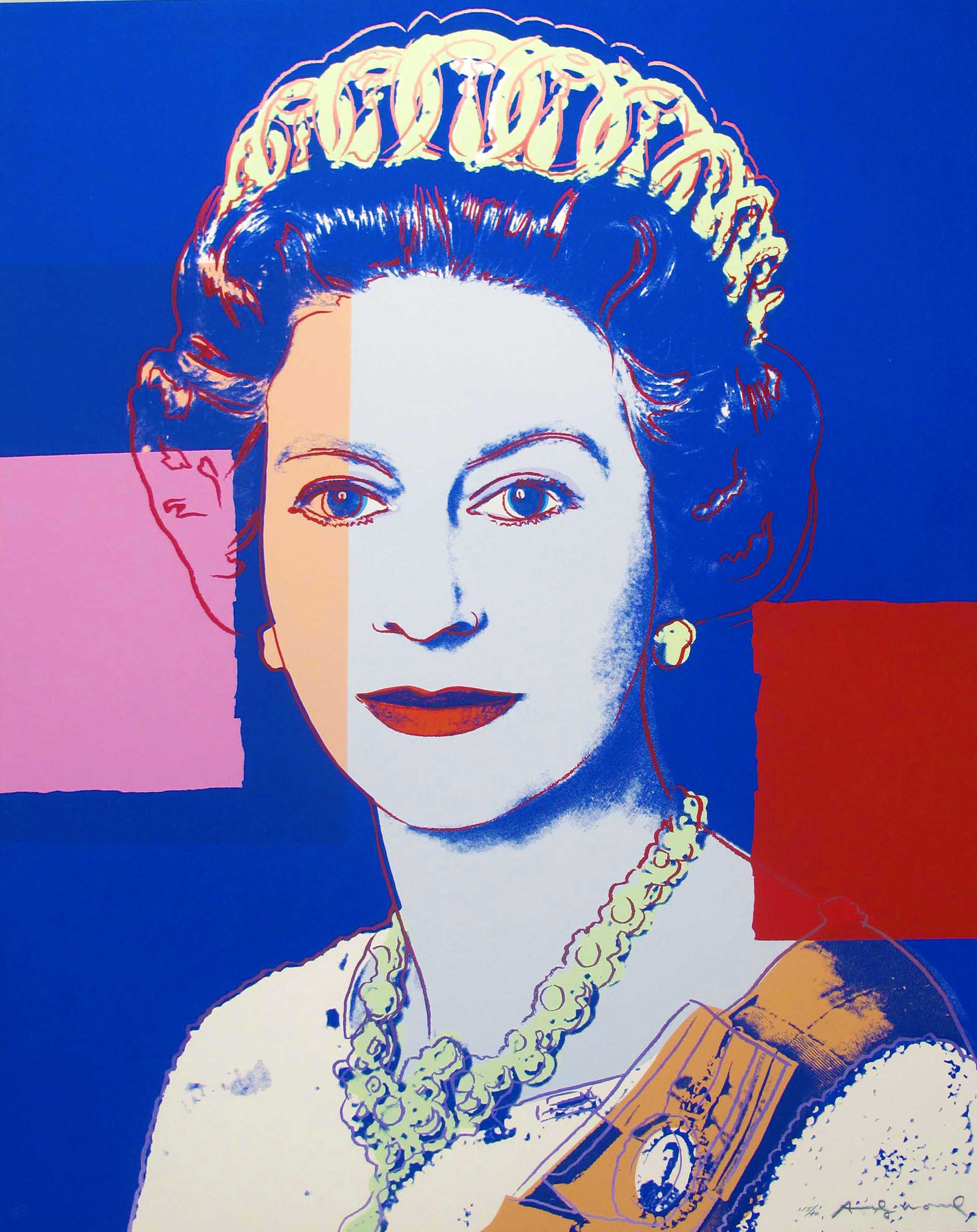 Andy Warhol | Reigning Queens | Queen Elizabeth II Of The United Kingdom 337 | 1985 | Image of Artists' work.