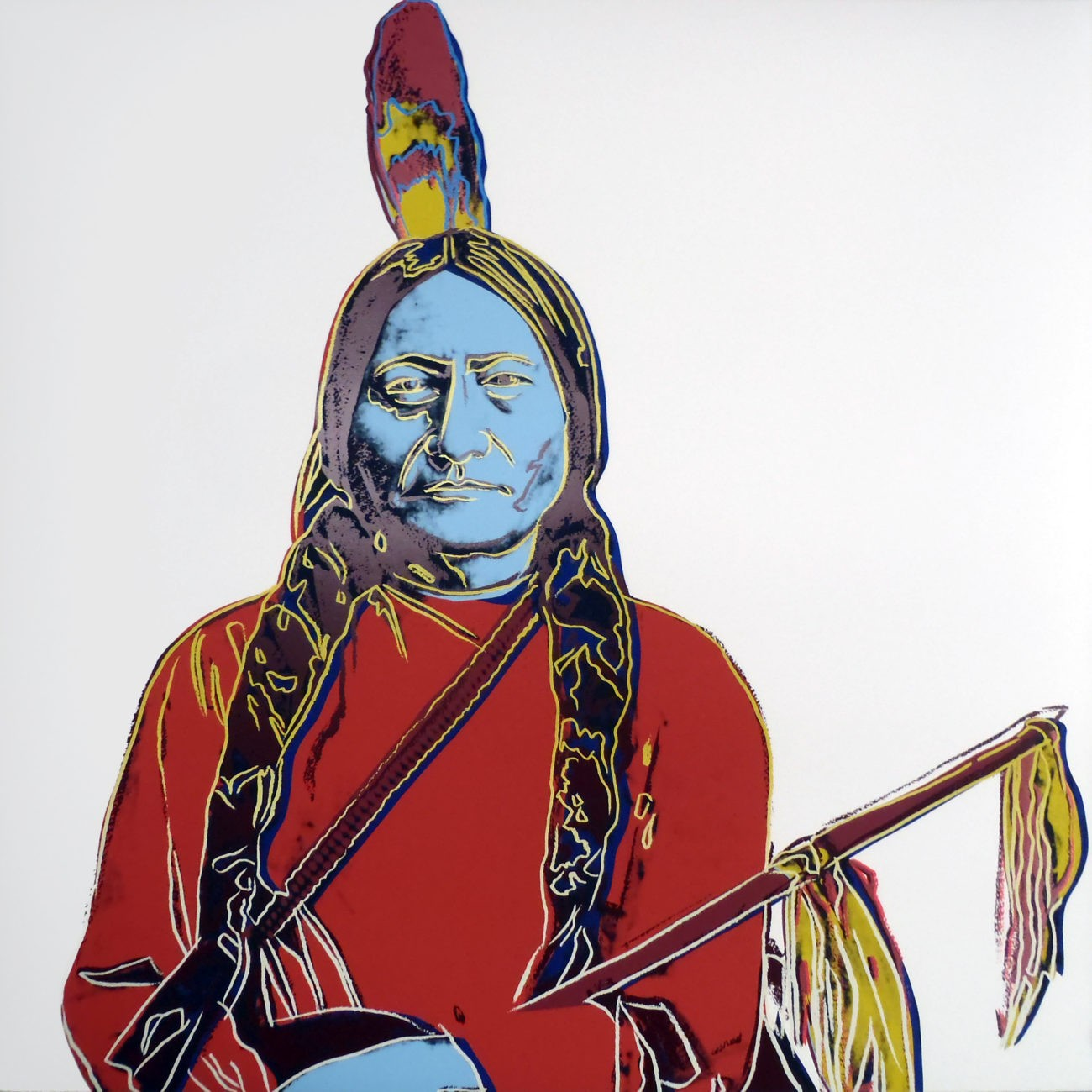 Andy Warhol   Cowboys and Indians   Sitting Bull   IIIA 70   1986   Image of Artists' work.