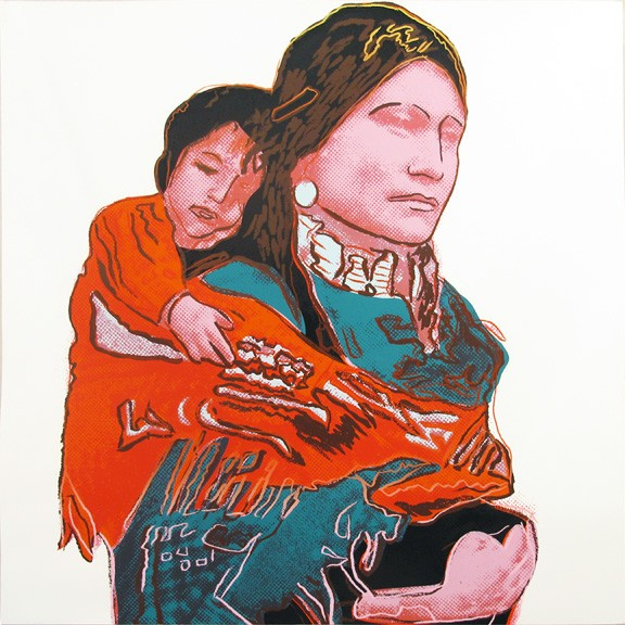 Andy Warhol | Cowboys and Indians | Mother and Child | 383 | 1986 | Image of Artists' work.