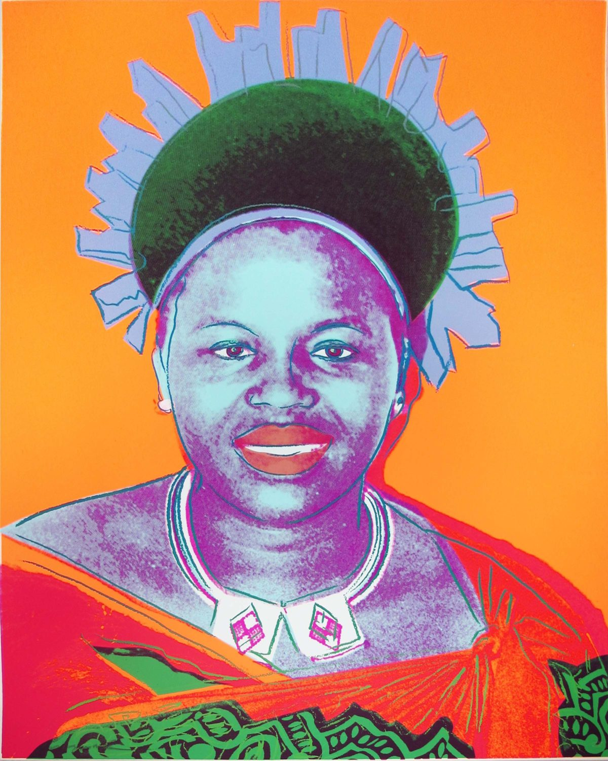 Andy Warhol | Reigning Queens | Queen Ntombi Twala of Swaziland | 1985 | Image of Artists' work.