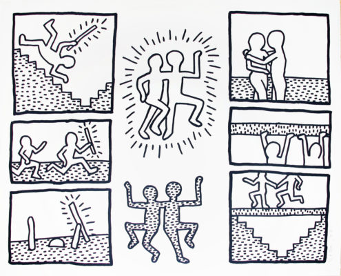 Keith haring the blueprint drawings portfolio 1990 hamilton keith haring the blueprint drawings 6 1990 malvernweather Images