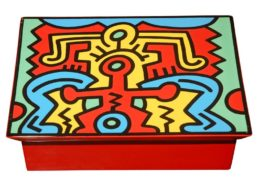Keith Haring | Ceramic | square box | Image of Artists' work.