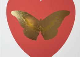 Damien Hirst | I Love You | Coral/Cool Gold/Oriental Gold | 2015 | Image of Artists' work.