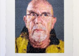 Chuck Close | Self Portrait | Felt stamped | 2012 | Image of Artists' work.