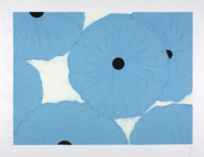 Donald Sultan | Six Blues | 2006 | Image of Artists' work.