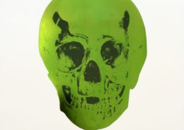 Damien Hirst | The Sick Dead | Lime Green/Racing Green Skull | 2009-2014 | Image of Artists' work.