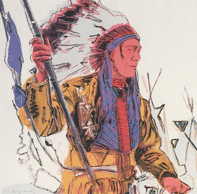 Andy Warhol | Cowboys and Indians | War Bonnet Indian 373 | 1986 | Image of Artists' work.