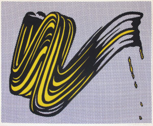 Roy Lichtenstein | Brushstroke | Yellow