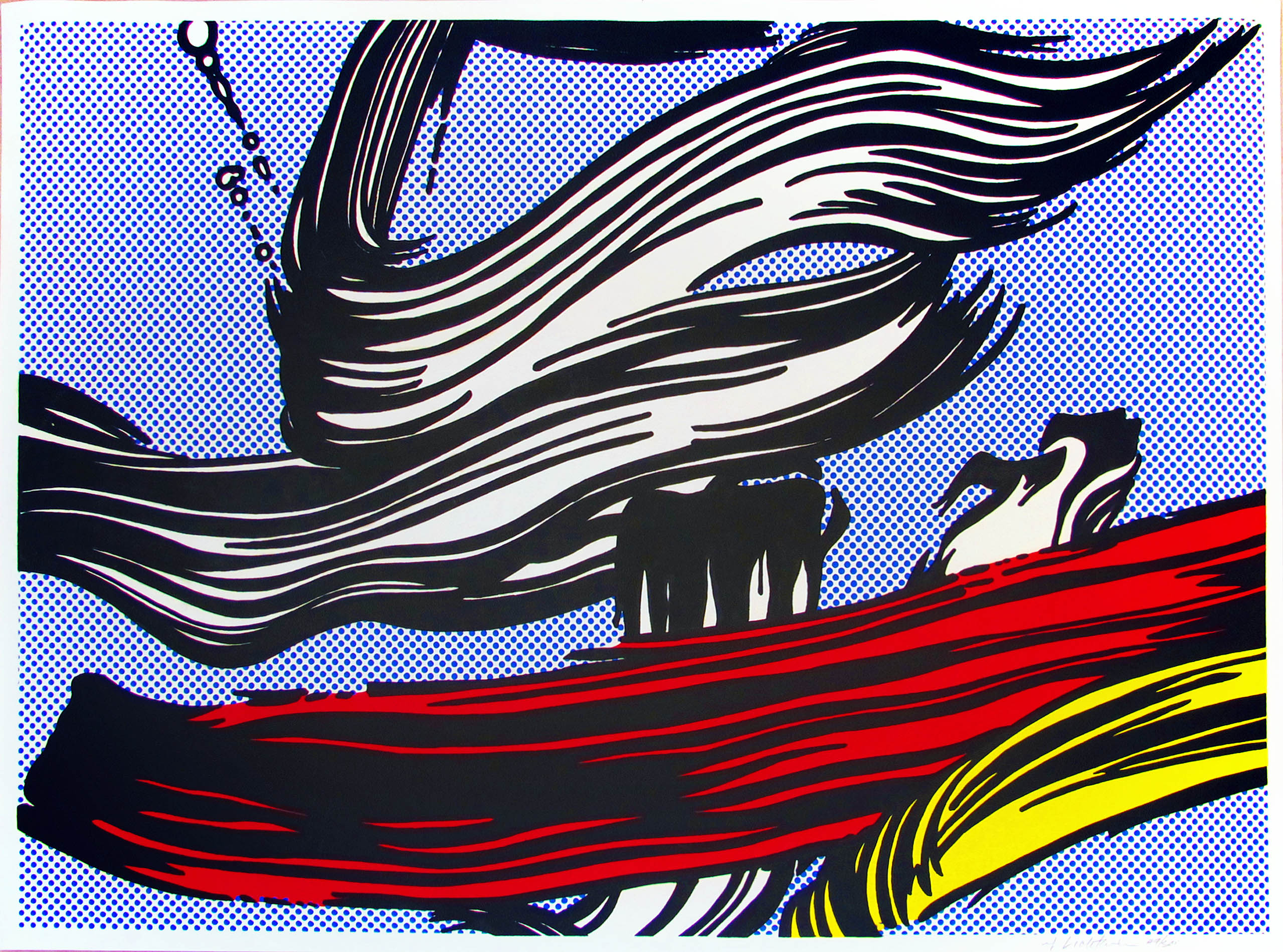 Roy Lichtenstein | Brushstrokes | 1967 | Image of Artists' work.