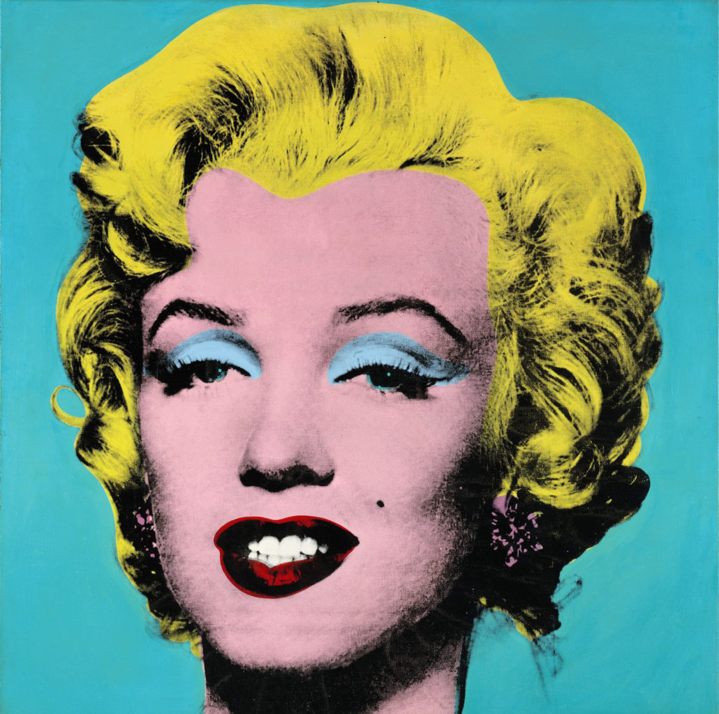 A famous screenprint of Warhol's that sold for 80 million dollars