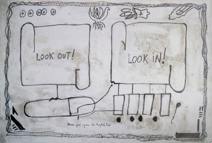 Jimmie Durham | Look In Look Out | 1992 | Image of Artists' work.