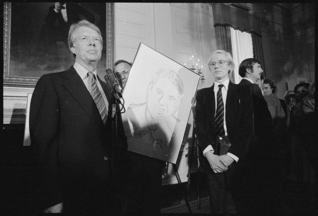 cc54d26390d Andy Warhol with Jimmy Carter