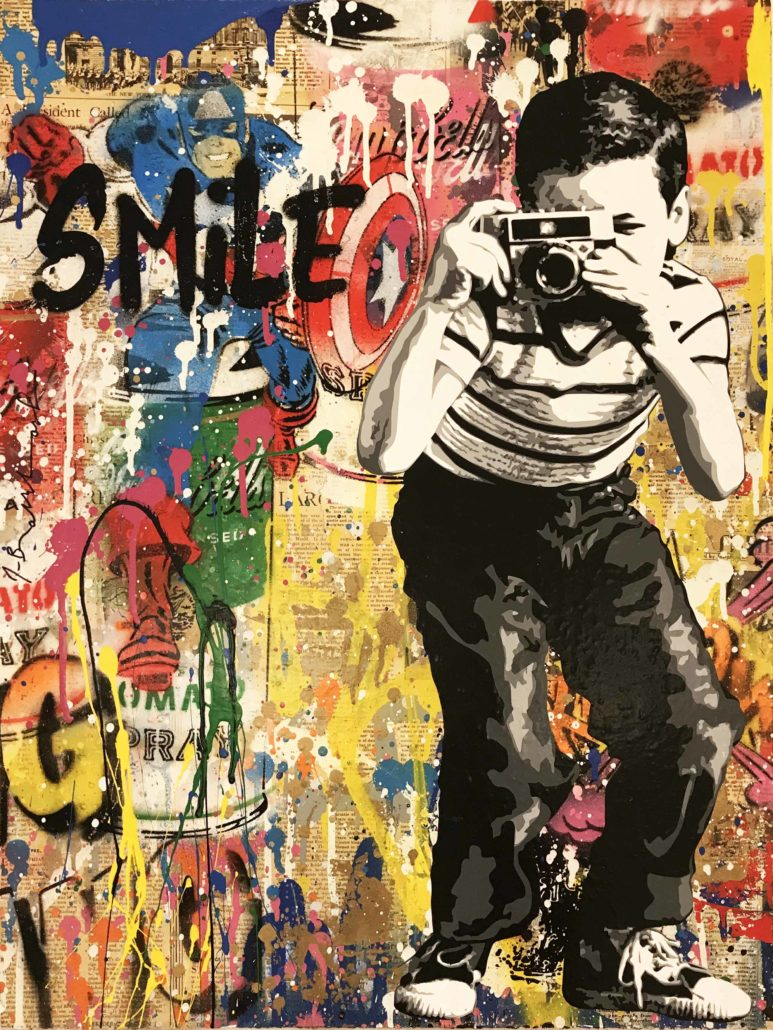 smile is one of the interesting facts about Mr. Brainwash
