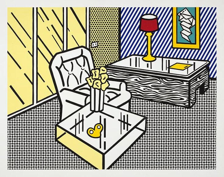 Roy Lichtenstein | The Den | From The Interior series | 1991