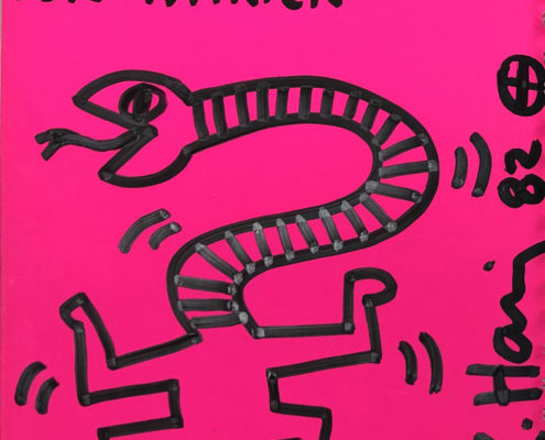 "Keith Haring | Untitled Drawing ""For Patrick"" 