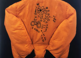 Keith Haring | Drawing on Satin Jacket | 1989