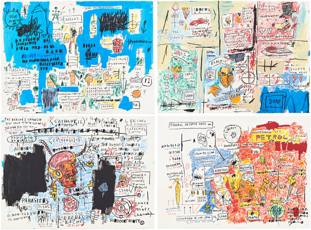 Jean-Michel Basquiat | Ascent, Olympic, Leeches, & Liberty | 1982-83/2017