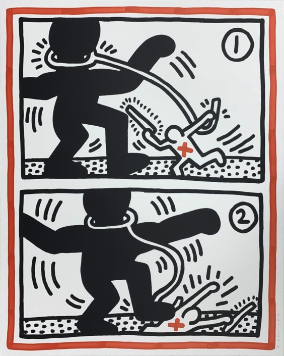Keith Haring | Untitled #3 | Free South Africa | 1985