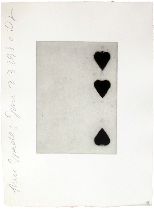 Donald Sultan | Three of Spades | Playing Cards | 1990