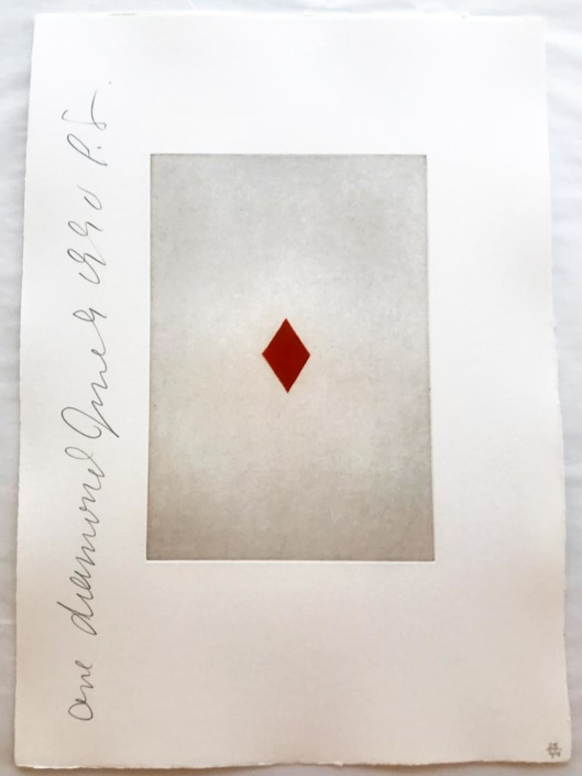 Donald Sultan | Ace of Diamonds | Playing Cards | 1990